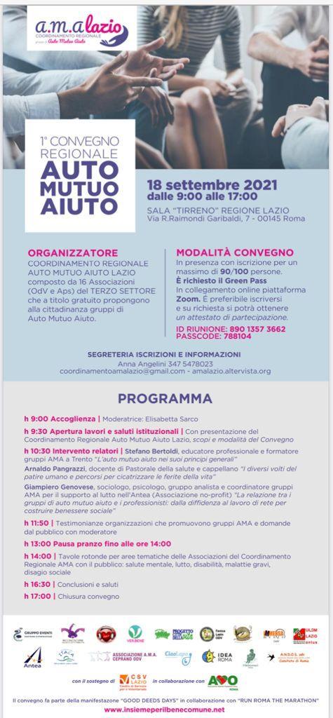 1° Convegno Regionale AUTO MUTUO AIUTO